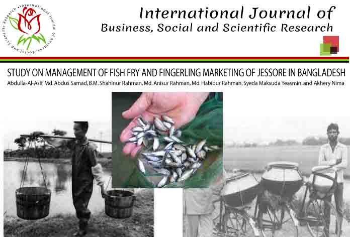 STUDY ON MANAGEMENT OF FISH FRY AND FINGERLING MARKETING OF JESSORE IN BANGLADESH