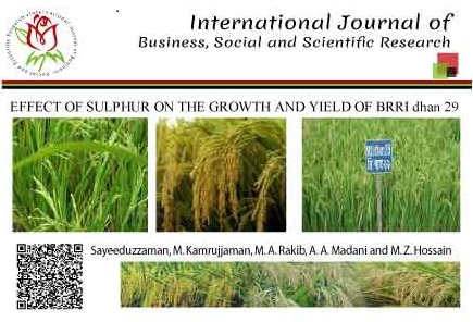 EFFECT OF SULPHUR ON THE GROWTH AND YIELD OF BRRI dhan 29