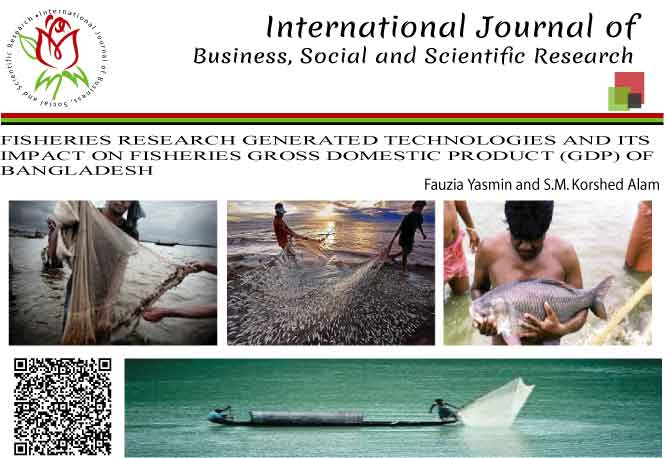 FISHERIES RESEARCH GENERATED TECHNOLOGIES AND ITS IMPACT ON FISHERIES GROSS DOMESTIC PRODUCT (GDP) OF BANGLADESH