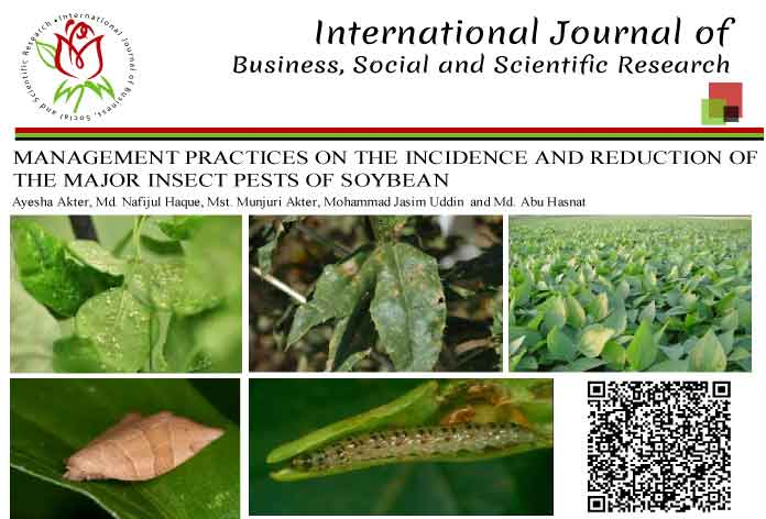 MANAGEMENT PRACTICES ON THE INCIDENCE AND REDUCTION OF THE MAJOR INSECT PESTS OF SOYBEAN