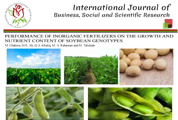 PERFORMANCE OF INORGANIC FERTILIZERS ON THE GROWTH AND NUTRIENT CONTENT OF SOYBEAN GENOTYPES