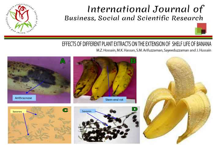 EFFECTS OF DIFFERENT PLANT EXTRACTS ON THE EXTENSION OF SHELF LIFE OF BANANA