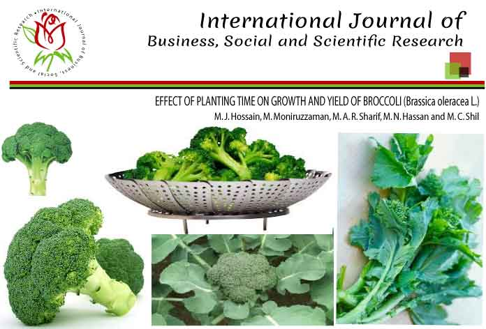 EFFECT OF PLANTING TIME ON GROWTH AND YIELD OF BROCCOLI (Brassica oleracea L.)