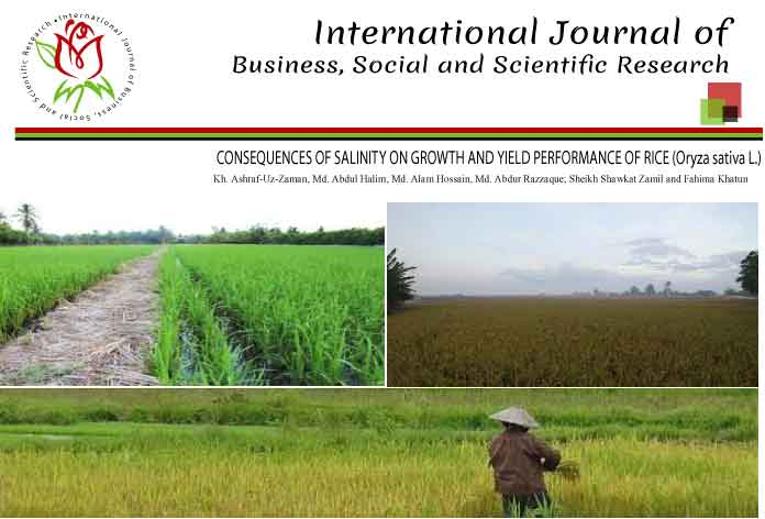 CONSEQUENCES OF SALINITY ON GROWTH AND YIELD PERFORMANCE OF RICE (Oryza sativa L.)