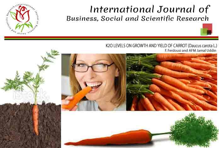 K2O LEVELS ON GROWTH AND YIELD OF CARROT (Daucus carota L.)