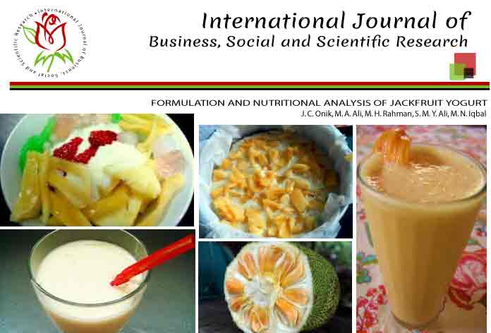 FORMULATION AND NUTRITIONAL ANALYSIS OF JACKFRUIT YOGURT