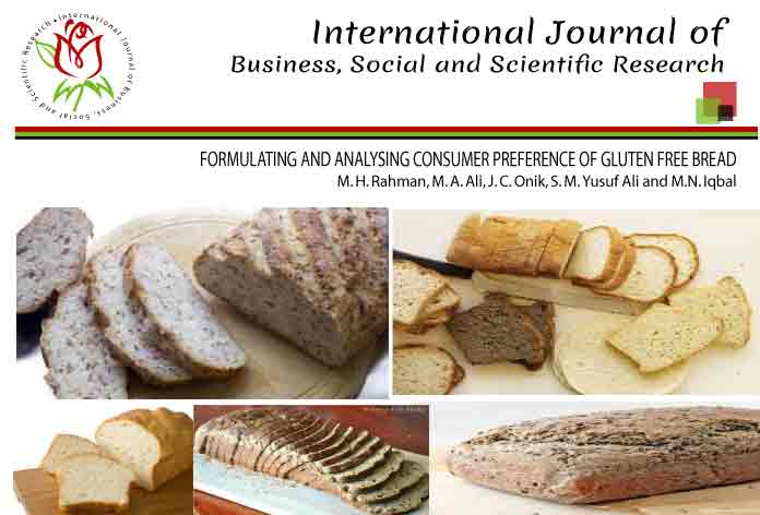 FORMULATING AND ANALYSING CONSUMER PREFERENCE OF GLUTEN FREE BREAD
