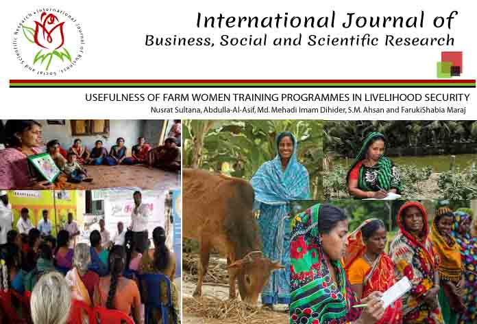 USEFULNESS OF FARM WOMEN TRAINING PROGRAMMES IN LIVELIHOOD SECURITY