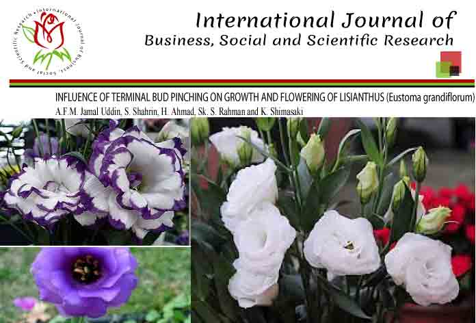 INFLUENCE OF TERMINAL BUD PINCHING ON GROWTH AND FLOWERING OF LISIANTHUS (Eustoma grandiflorum)