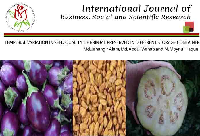 TEMPORAL VARIATION IN SEED QUALITY OF BRINJAL PRESERVED IN DIFFERENT STORAGE CONTAINER