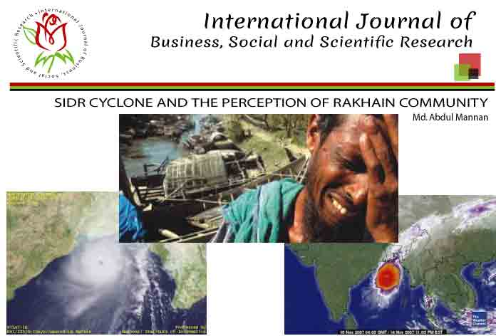SIDR CYCLONE AND THE PERCEPTION OF RAKHAIN COMMUNITY