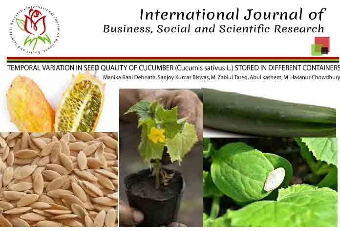 TEMPORAL VARIATION IN SEED QUALITY OF CUCUMBER (Cucumis sativus L.) STORED IN DIFFERENT CONTAINERS