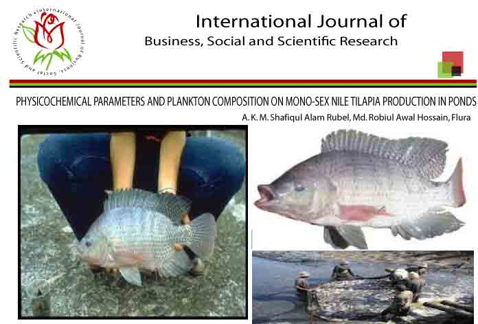 PHYSICOCHEMICAL PARAMETERS AND PLANKTON COMPOSITION ON MONO-SEX NILE TILAPIA PRODUCTION IN PONDS