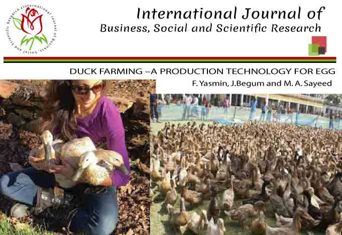 DUCK FARMING –A PRODUCTION TECHNOLOGY FOR EGG