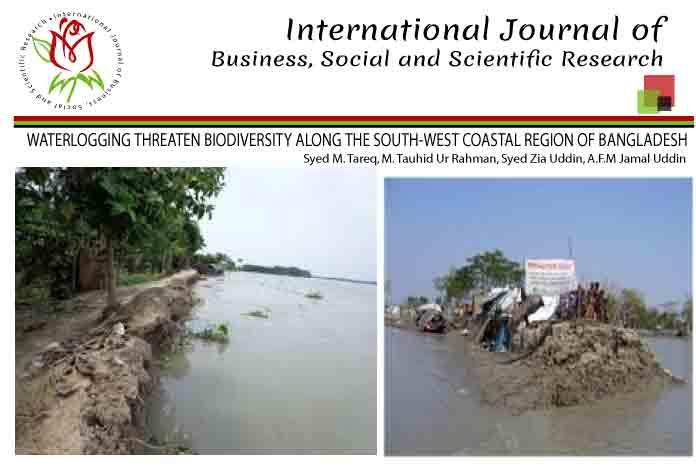 WATERLOGGING THREATEN BIODIVERSITY ALONG THE SOUTH-WEST COASTAL REGION OF BANGLADESH