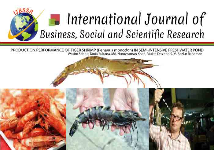PRODUCTION PERFORMANCE OF TIGER SHRIMP (Penaeus monodon) IN SEMI-INTENSIVE FRESHWATER POND