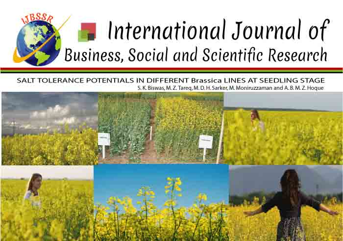 SALT TOLERANCE POTENTIALS IN DIFFERENT Brassica LINES AT SEEDLING STAGE