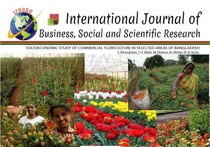 SOCIOECONOMIC STUDY OF COMMERCIAL FLORICULTURE IN SELECTED AREAS OF BANGLADESH