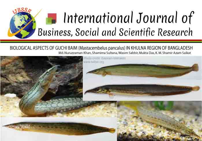 BIOLOGICAL ASPECTS OF GUCHI BAIM (Mastacembelus pancalus) IN KHULNA REGION OF BANGLADESH