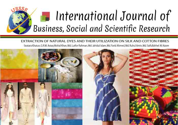 EXTRACTION OF NATURAL DYES AND THEIR UTILIZATION ON SILK AND COTTON FIBRES