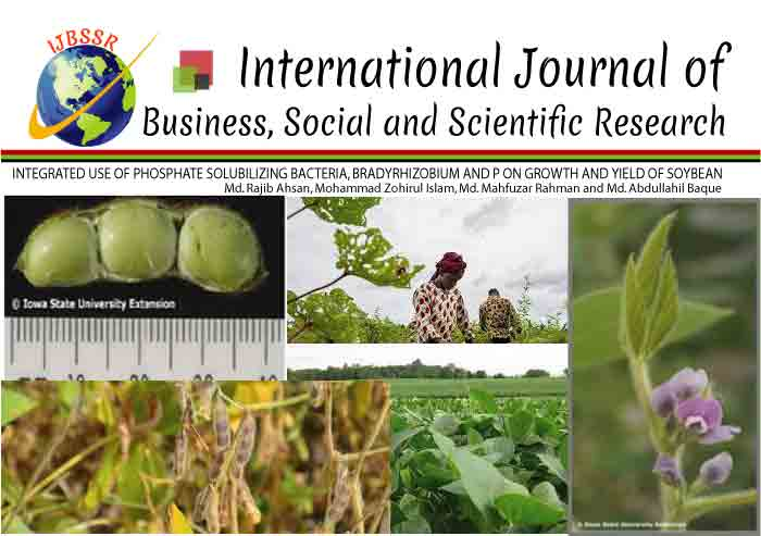 INTEGRATED USE OF PHOSPHATE SOLUBILIZING BACTERIA, BRADYRHIZOBIUM AND P ON GROWTH AND YIELD OF SOYBEAN