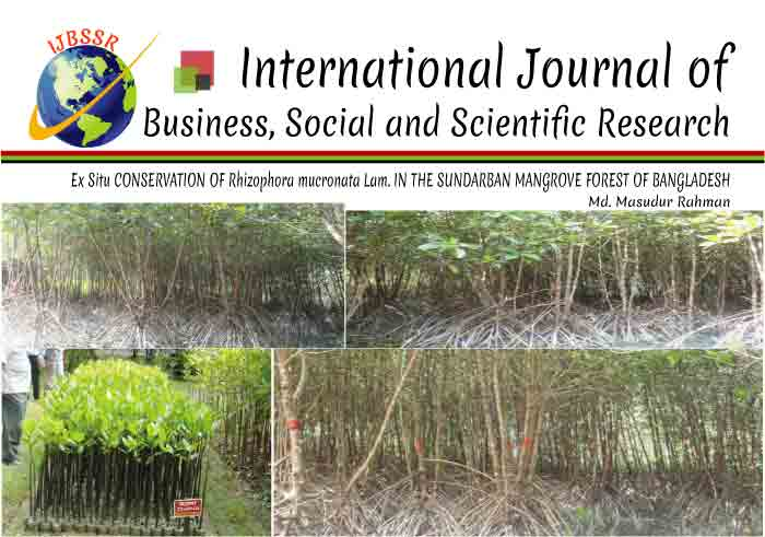 Ex Situ CONSERVATION OF Rhizophora mucronata Lam. IN THE SUNDARBAN MANGROVE FOREST OF BANGLADESH