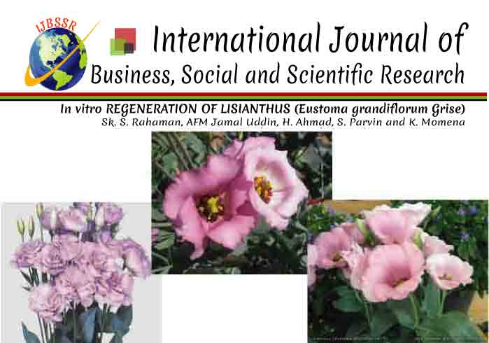 In vitro REGENERATION OF LISIANTHUS (Eustoma grandiflorum Grise)