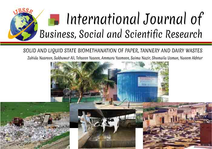SOLID AND LIQUID STATE BIOMETHANATION OF PAPER, TANNERY AND DAIRY WASTES