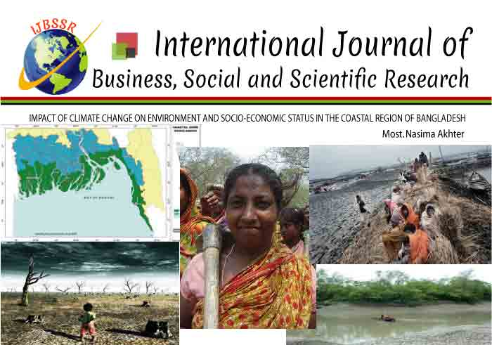 IMPACT OF CLIMATE CHANGE ON ENVIRONMENT AND SOCIO-ECONOMIC STATUS IN THE COASTAL REGION OF BANGLADESH