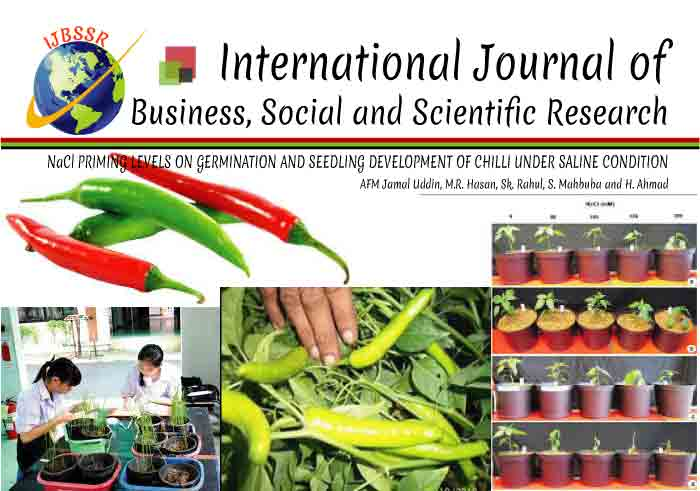 NaCl PRIMING LEVELS ON GERMINATION AND SEEDLING DEVELOPMENT OF CHILLI UNDER SALINE CONDITION