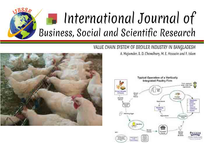 VALUE CHAIN SYSTEM OF BROILER INDUSTRY IN BANGLADESH