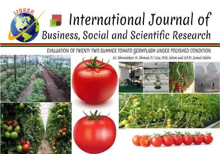 EVALUATION OF TWENTY TWO SUMMER TOMATO GERMPLASM UNDER POLYSHED CONDITION