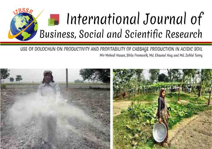 USE OF DOLOCHUN ON PRODUCTIVITY AND PROFITABILITY OF CABBAGE PRODUCTION IN ACIDIC SOIL