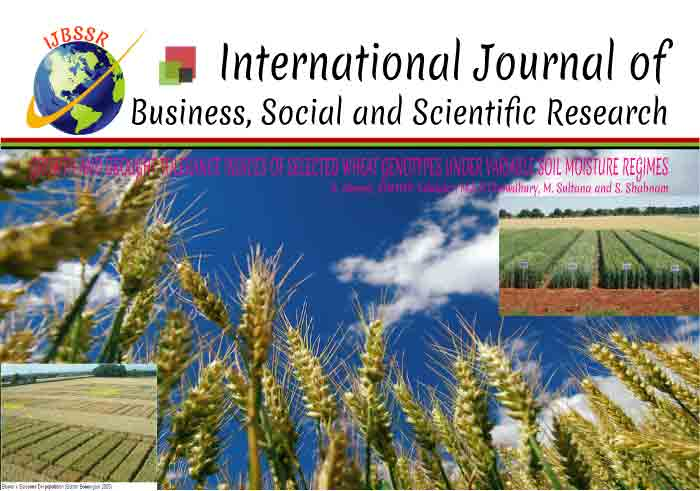 GROWTH AND DROUGHT TOLERANCE INDICES OF SELECTED WHEAT GENOTYPES UNDER VARIABLE SOIL MOISTURE REGIMES
