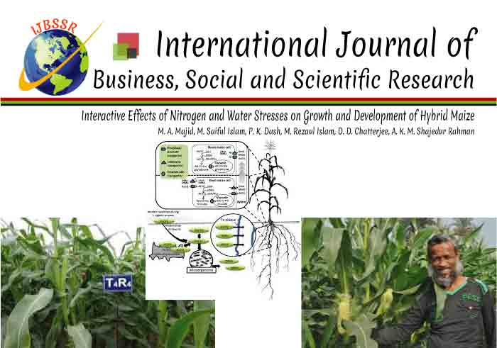 INTERACTIVE EFFECTS OF NITROGEN AND WATER STRESSES ON GROWTH AND DEVELOPMENT OF HYBRID MAIZE