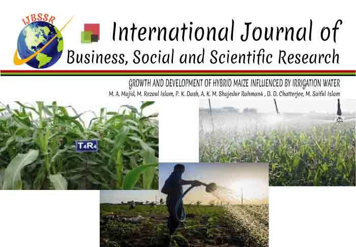 GROWTH AND DEVELOPMENT OF HYBRID MAIZE INFLUENCED BY IRRIGATION WATER