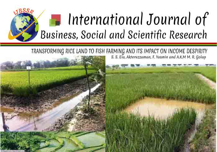 TRANSFORMING RICE LAND TO FISH FARMING AND ITS IMPACT ON INCOME DESPIRITY