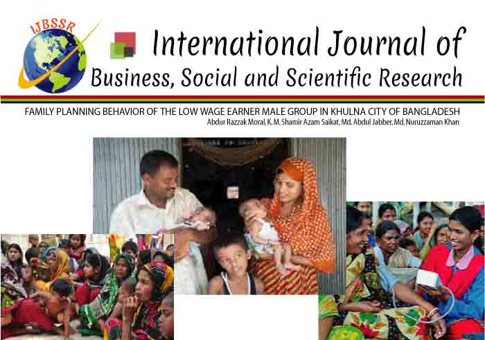 FAMILY PLANNING BEHAVIOR OF THE LOW WAGE EARNER MALE GROUP IN KHULNA CITY OF BANGLADESH