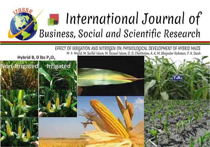 EFFECT OF IRRIGATION AND NITROGEN ON PHYSIOLOGICAL DEVELOPMENT OF HYBRID MAIZE