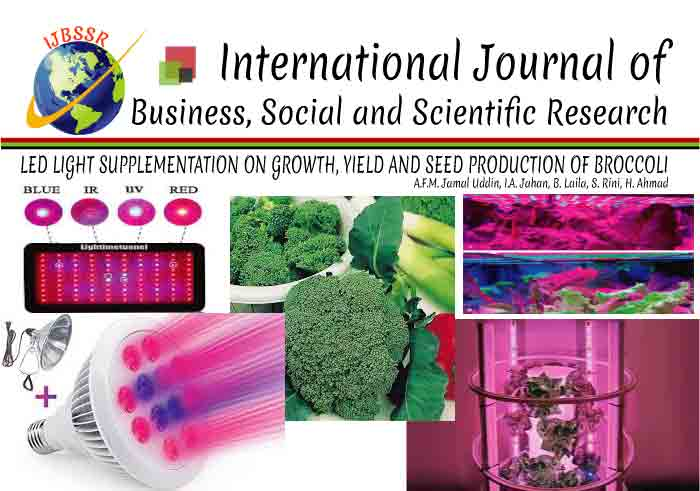 LED LIGHT SUPPLEMENTATION ON GROWTH, YIELD AND SEED PRODUCTION OF BROCCOLI