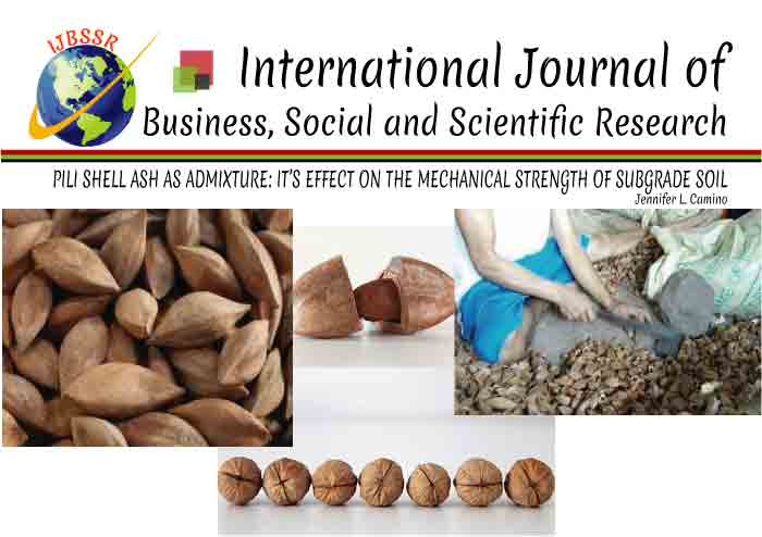 PILI SHELL ASH AS ADMIXTURE: IT'S EFFECT ON THE MECHANICAL STRENGTH OF SUBGRADE SOIL