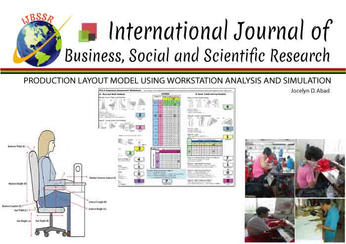 PRODUCTION LAYOUT MODEL USING WORKSTATION ANALYSIS AND SIMULATION