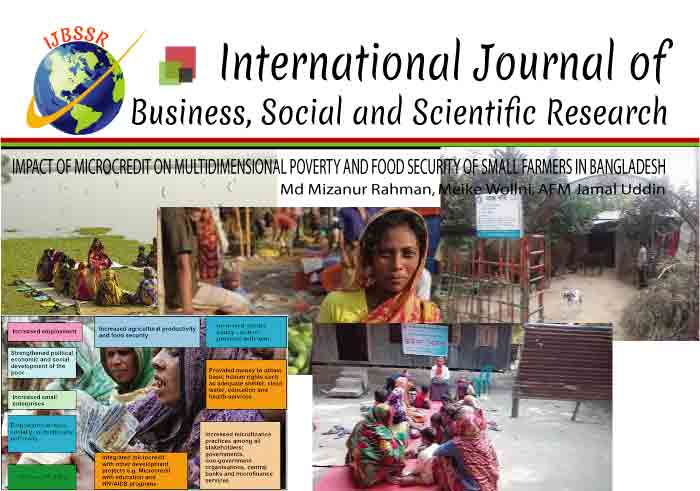 IMPACT OF MICROCREDIT ON MULTIDIMENSIONAL POVERTY AND FOOD SECURITY OF SMALL FARMERS IN BANGLADESH