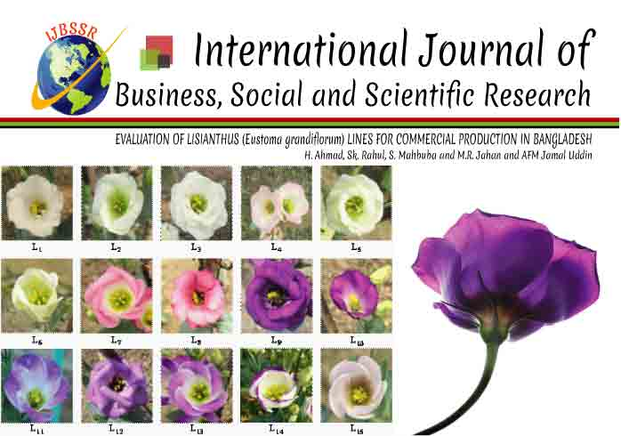 EVALUATION OF LISIANTHUS (Eustoma grandiflorum) LINES FOR COMMERCIAL PRODUCTION IN BANGLADESH