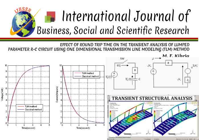 EFFECT OF ROUND TRIP TIME ON THE TRANSIENT ANALYSIS OF LUMPED PARAMETER R-C CIRCUIT USING ONE DIMENSIONAL TRANSMISSION LINE MODELING (TLM) METHOD