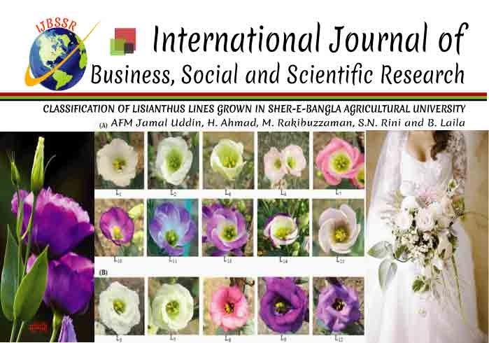 CLASSIFICATION OF LISIANTHUS LINES GROWN IN SHER-E-BANGLA AGRICULTURAL UNIVERSITY
