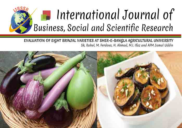 EVALUATION OF EIGHT BRINJAL VARIETIES AT SHER-E-BANGLA AGRICULTURAL UNIVERSITY