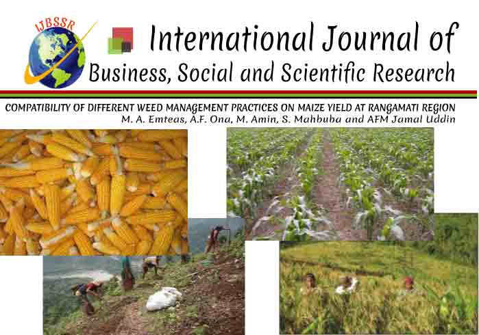 COMPATIBILITY OF DIFFERENT WEED MANAGEMENT PRACTICES ON MAIZE YIELD AT RANGAMATI REGION
