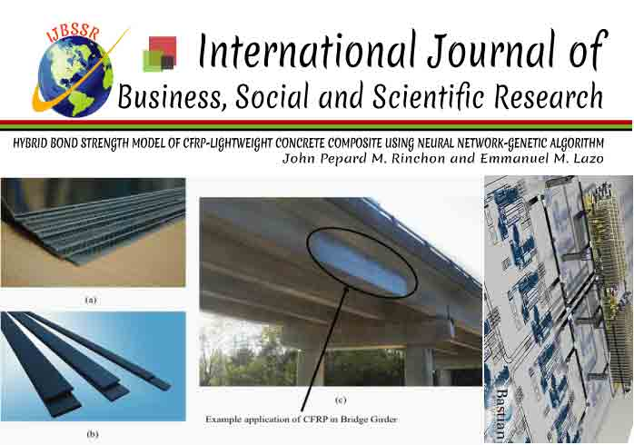 HYBRID BOND STRENGTH MODEL OF CFRP-LIGHTWEIGHT CONCRETE COMPOSITE USING NEURAL NETWORK-GENETIC ALGORITHM