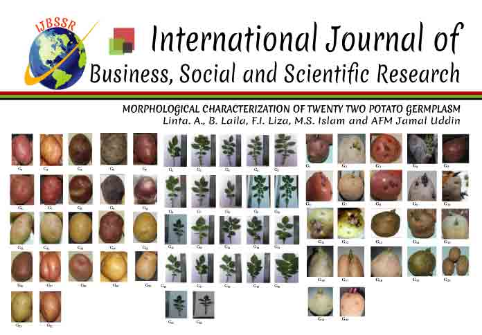 MORPHOLOGICAL CHARACTERIZATION OF TWENTY TWO POTATO GERMPLASM